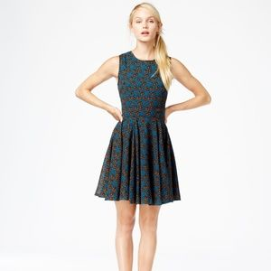 NWT Madison Jules Mini Fit & Flare Teal w/Floral